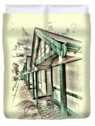 Beach Huts 1 Duvet Cover