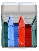 Beach Huts 3 Duvet Cover