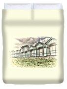 Beach Huts 4 Duvet Cover