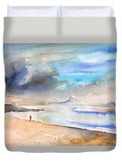 Beach In Lanzarote Duvet Cover
