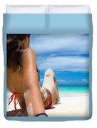 Beach Love Duvet Cover