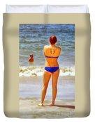 Beach Mom Duvet Cover
