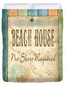 Beach Notes-d Duvet Cover