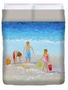 Beach Painting - Sandcastles Duvet Cover