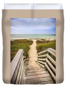 Beach Path Duvet Cover by Adam Romanowicz