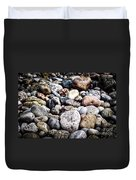Pebbles On Beach Duvet Cover