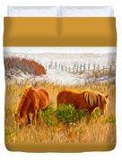 Beach Ponies Duvet Cover