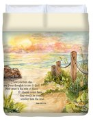 Beach Post Sunrise Psalm 139 Duvet Cover