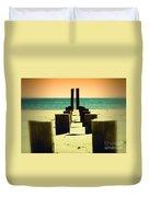 Beach Pylons Duvet Cover