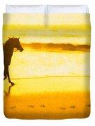 Beach Rider Duvet Cover
