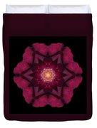 Beach Rose I Flower Mandala Duvet Cover by David J Bookbinder