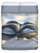 Beach Sandals 2 Duvet Cover