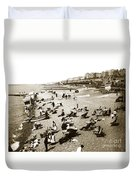 Beach Sean France  Circa 1900 Duvet Cover