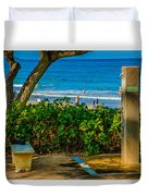 Beach Shower Duvet Cover