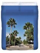 Beach Sidewalk Duvet Cover