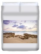 Beach Sunrise At Jupiter Island Florida Duvet Cover
