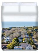Beach Town Duvet Cover