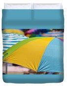 Beach Umbrella Rainbow 1 Duvet Cover