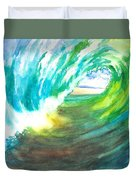Beach View From Wave Barrel Duvet Cover