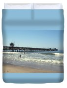 Beach View With Pier 2 Duvet Cover by Ben and Raisa Gertsberg