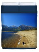 Beach With Altitude Duvet Cover