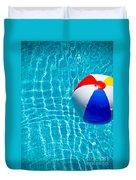 Beachball On Pool Duvet Cover