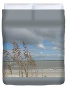 Beachview With Seaoat  Duvet Cover
