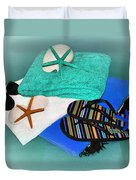 Beachy Things - Aqua Blue Duvet Cover