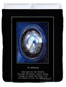 Beacon Of Hope - Serenity Prayer Duvet Cover