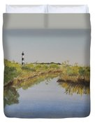 Beacon On The Marsh Duvet Cover
