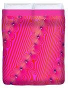 Beaded Pink Duvet Cover
