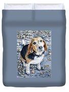 Beagle In Autumn Duvet Cover