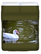 Beak And Feather Reflections Of The Muscovy  Duvet Cover