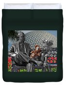 Bear And His Mentors Walt Disney World 04 Duvet Cover