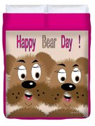 Bear Day Card Duvet Cover