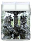 Bear Fountain Duvet Cover