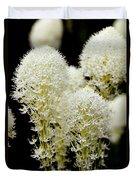 Bear Grass Flowers Glacier National Park Duvet Cover