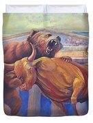 Bear Vs Bull Duvet Cover