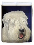 Bearded Collie - The 'bouncing Beardie' Duvet Cover