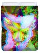 Bearded Iris Cultivar - Use Red-cyan 3d Glasses Duvet Cover