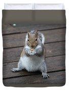 Beast Mode Squirrel Duvet Cover