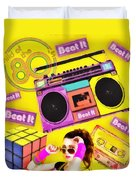 Beat It Duvet Cover by Mo T