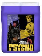 Beauceron Art Canvas Print - Psycho Movie Poster Duvet Cover