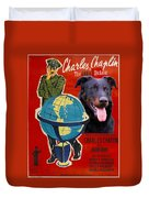 Beauceron Art Canvas Print - The Great Dictator Movie Poster Duvet Cover