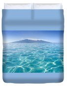 Beauitful Seascape Of Moorea Duvet Cover