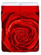 Beautiful Abstract Red Rose Illustration Duvet Cover