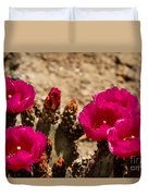 Beautiful Beavertail Cactus Duvet Cover