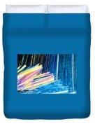 Beautiful Benzoic Acid  Microcrystals Abstract Art Duvet Cover