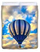 Beautiful Blue Hot Air Balloon Duvet Cover