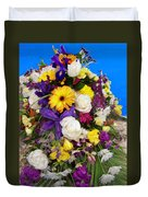 Beautiful Bouquet Of Flowers Duvet Cover